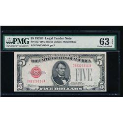 1928B $5 Legal Tender Note PMG 63EPQ