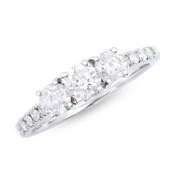 14KT White Gold 1.23ctw Diamond Ring