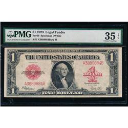 1923 $1 Legal Tender Note PMG 35EPQ