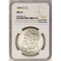1889-CC $1 Morgan Silver Dollar Coin NGC MS61
