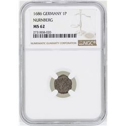 1686 Germany 1P Nurnberg Coin NGC MS62