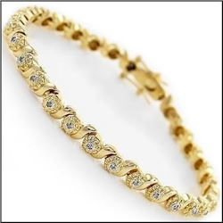 Plated 18KT Yellow Gold 0.52ctw Diamond Bracelet