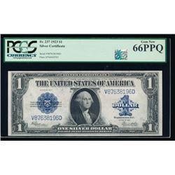 1923 $1 Silver Certificate PCGS 66EPQ