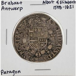 1598-1621 Brabant Antwerp Patagon Silver Coin