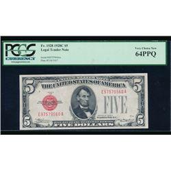 1928C $5 Legal Tender Note PCGS 64PPQ