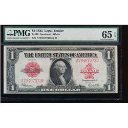 1923 $1 Legal Tender Note PMG 65EPQ