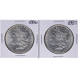 1886-1887 $1 Morgan Silver Dollar Coins