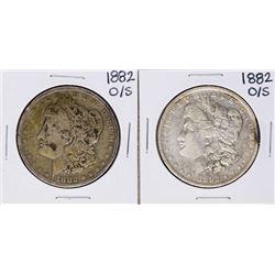 Lot of (2) 1882-O/S $1 Morgan Silver Dollar Coins