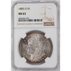 1885-O $1 Morgan Silver Dollar Coin NGC MS63 Nice Reverse Toning