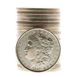 Roll of (20) Brilliant Uncirculated 1889 $1 Morgan Silver Dollar Coins