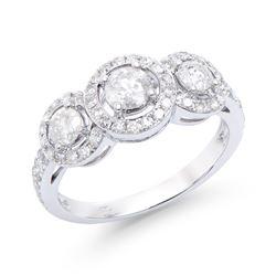 14KT White Gold 1.18ctw Diamond Ring