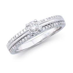 14KT White Gold 0.47ctw Diamond Ring