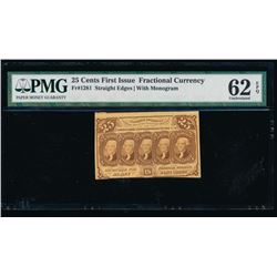 25 Cent Third Issue Fractional Note PMG 62EPQ