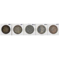 Lot of (5) $1 Morgan Silver Dollar Coins