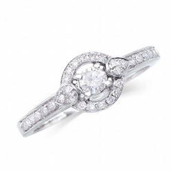 14KT White Gold 0.41ctw Diamond Ring