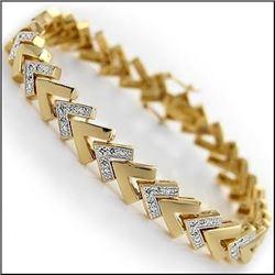 Plated 18KT Yellow Gold 0.42ctw Diamond Bracelet