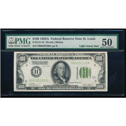 1928A $100 St Louis Federal Reserve Note PMG 50