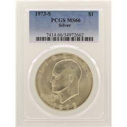 1973-S Eisenhower Silver Dollar PCGS MS66