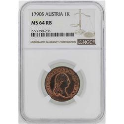 1790-S Austria Joseph II Kreuzer Coin NGC MS62RB