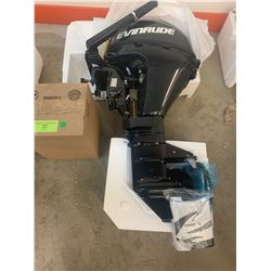Boat Motor: 9.8 H.P. Evinrude with low Emission Gas Tank