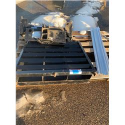 Trailer Ramp, Trailer Hitch and misc Aluminum Rails