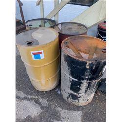 Barrels, Used Oil and Peg Board