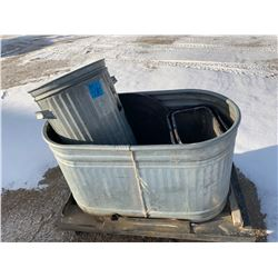 Rims, water trough, garbage cans and office dividers