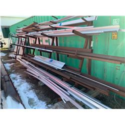 Various Pieces & Lengths of Aluminum & Angle Iron Tubing