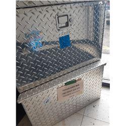 2 H & H Checker Plate Trailer Storage Boxes