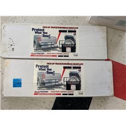 """Rock Solid Tow Guards in Box 34"""" X 14"""" and  2 Suburban/Pick-Up Truck Heavy Duty Mud Flaps in Box"""