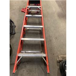 1 Lot 6' Fiber Glass Ladder, 1 - Aluminum Collapsible Step Stool
