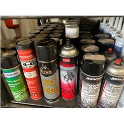 Silicon Sprays, Break Fluid, Fogging Oil, Combustion Chamber Cleaner, Carb Cleaner, Assembly Grease,