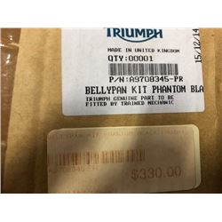 Triumph Belly Pan Part# A97083445PR, Triumph Engine Dresser Bars Part# A9788004