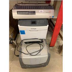 2 Photo Copier & Fax Machines (Lexmark & Microline 321 9 Pin Turbo Printer)
