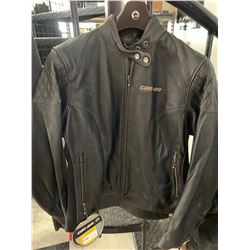 Men's  Black Can Am Leather Jacket - XLarge - New