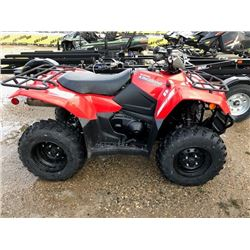 New 2019 Suzuki King Quad 400 Asi Red VIN:5SAAK4CKXK7100106