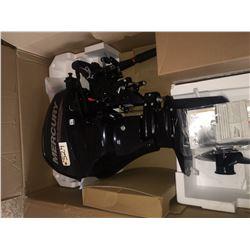Mercury 4 stroke 15 HP w.tiller and fuel tank, warranty card, unused