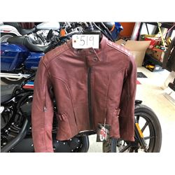 Joe Rocket Glorious & Free ladies XS leather jacket w. protective inserts