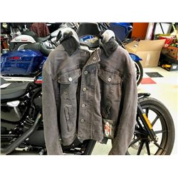 Joe Rocket 2 in 1 Steel City jacket, black with a grey zip out hoodie and protective inserts, size L