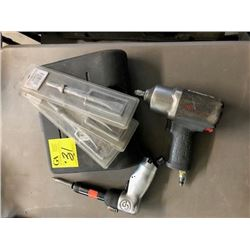 "Pneumatic stapler; Chicago Pneumatic with chisels; zip gun; 1/2"" drive impact driver;"