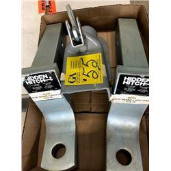 """2- Hidden hitch solid shank 6"""" drop (80124); 1- 2 5/16 coupler"""