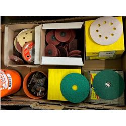 Asstd. sanding disks, grinding wheel disks