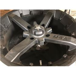 """2- MSA black quad rims, 18"""", new,"""