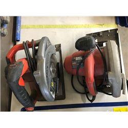 2- Black and Decker 13 Amp circular saws