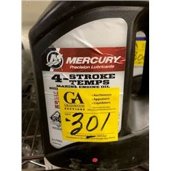 2- 25W40 synthetic blend; 3- 25W40, Mercury oil