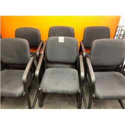 6- padded board room chairs