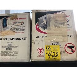Air helper spring kit, 4184; air helper spring kit, 2350; U- bolt kit, 557