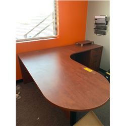 L Shaped Desk with drawer/file unit