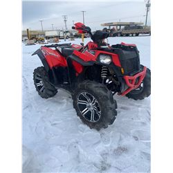 Polaris Scrambler 850 ho. Aftermarket wheel and tire package No keys, Needs head gasket, Non runner