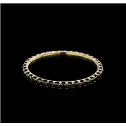 0.61 ctw Black Diamond Ring - 14KT White Gold